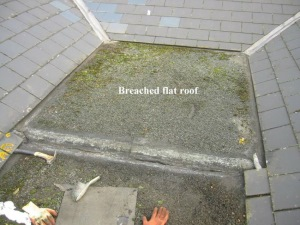 A Victorian property with an internal flat roof gully area, exhibiting severe water ingress and general deterioration. A 3-layer flat roof installation was required.