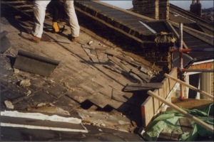 Removing the old roof covering